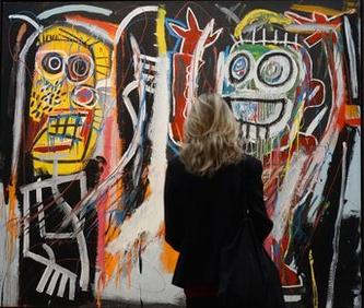 Jean-Michel Basquiat's 'Dustheads.'