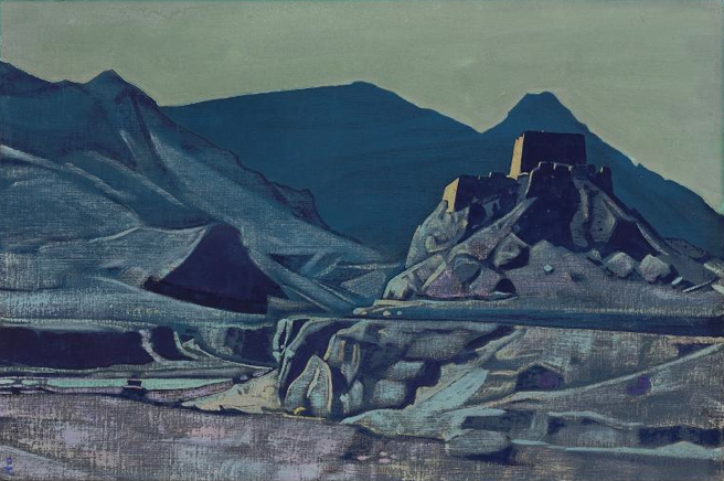 Nicolas Roerich, 'Sanctuaries and Citadels,' 1925, Oil on canvas laid down on board, 25 3/4 x 38ins, pounds 500,000 - 700,000, Christie's 3rd June.