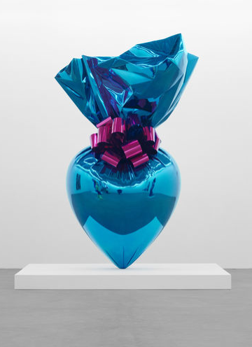 Sacred Heart (Blue Magenta) by Jeff Koons from the Celebration Series 1994 - 2007, stainless steel.