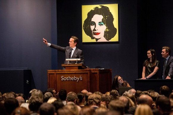 Tobias Meyer, formerly of Sotheby's, selling Andy Warhol's 'Liz' for more than US$20m in November 2013.