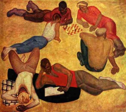 'The team is resting' by Victor Popkov, 1965