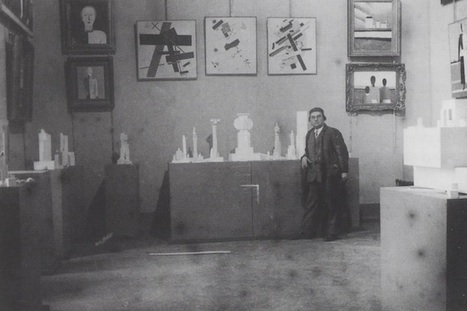 Kazimir Malevich at a retrospective of his work in 1932.