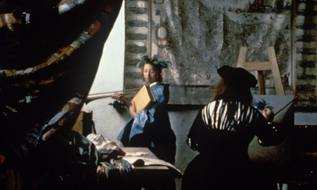 Nearly blown up … The Art of Painting by Johannes Vermeer. Photograph: AP