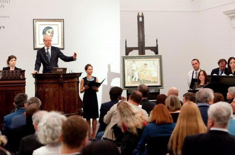 Lord Poltimore at Russian Art Week. Photo courtesy of Sotheby's