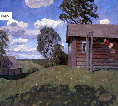 Valentin Sidorov, Swing, 1970, oil on canvas, Russian Museum.
