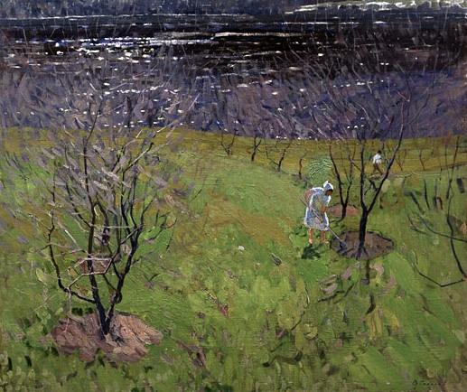 Valentin Sidorov, Summer Garden, oil on canvas, 1964.