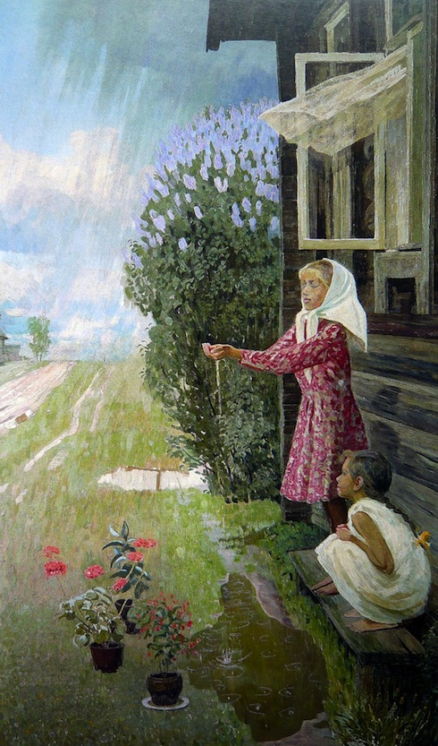 Valentin Sidorov, May Rain, oil on canvas, 1960.