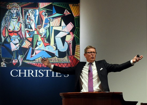 Jussi Pylkkanen auctions the Picasso in New York