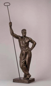 Georgii Motovilov, Metal Worker, 1936, Bronze