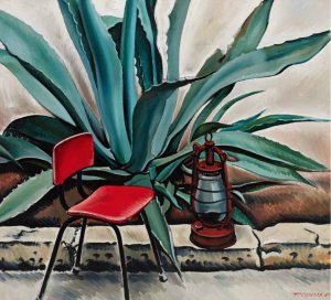 Tair Salahov, Agave with Red Lamp, 1979.