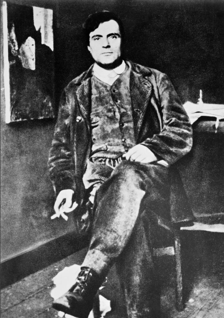 Amadeo Modigliani in his Paris Studio circa 1915