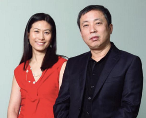 Collectors Liu Yiqian and his wife Wang Wei.