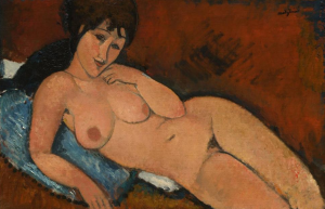 Modigliani's 'Nude on a blue cushion' allegedly acquired by Rybolovlev from Bouvier.