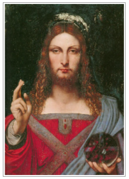 An image reputed to be of the 'Leonardo' before it was restored.