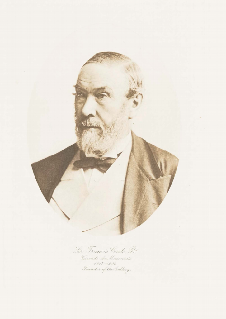 The businessman and collector, Sir Francis Cook, taken form the 1913 Catalogue of his famous collection