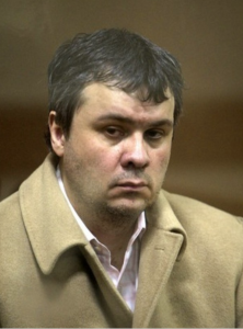 Valdimir Nekrasov photographed in the Courtroom during his 2008 trial.