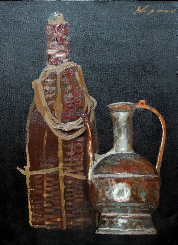 Still Life with Flask