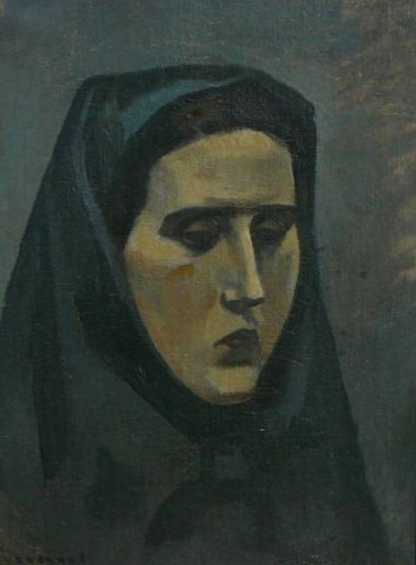 Girl in headscarf