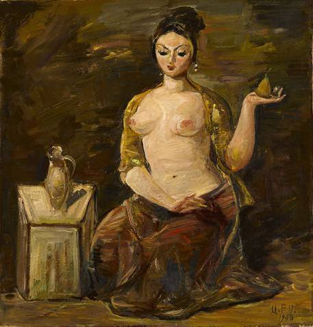 Nude with a pear
