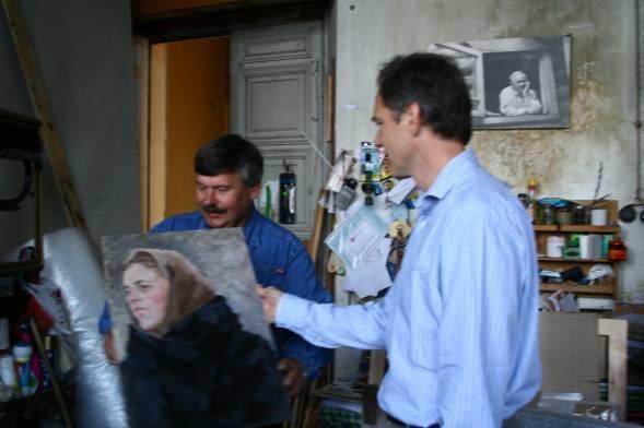 Nicolai Plastov in Arkadi Plastov's old studio, September 2006.