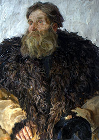 Arkadi Plastov, 'Portrait of a man called Meshova'