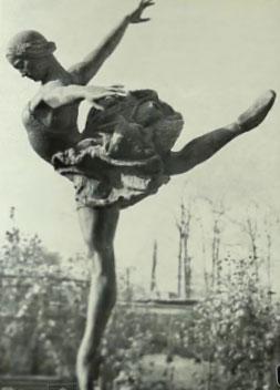 Galina Ulanova, bronze, c 1950 by Elena Yanson - Manizer
