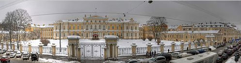 The Vorontsov Palace in St Petersburg in the winter of 2012