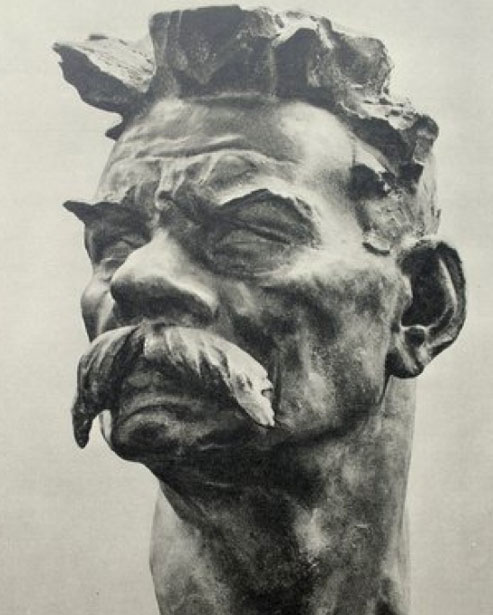 Maxim Gorky, bronze, 1938 by Ivan Shadr