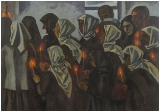 Victor Ivanov, 'Funeral,' 1971, oil on canvas, 153 x 218cm