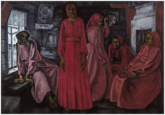 Viktor Popkov, 'Memories, Widows,' 1962, oil on canvas, 160 x 234cm
